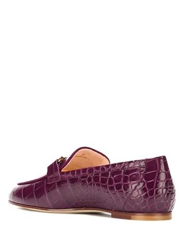 Tod's Deri Loafer Ayakkabı Bordo